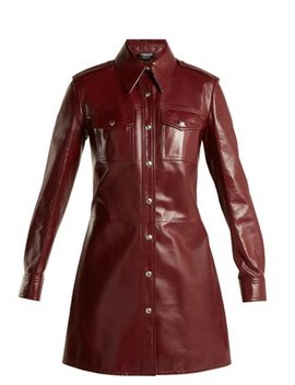 leather-button-through-shirtdress by calvin-klein-205w39nyc