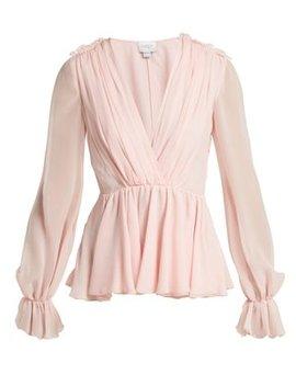gathered-silk-blouse by giambattista-valli