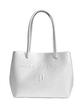 mini-metallic-leather-logo-shopper-tote by marc-jacobs