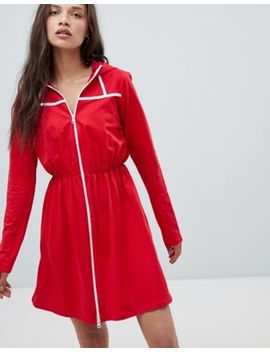 heartbreak-hooded-sweatshirt-dress-with-contrast-piping by dress
