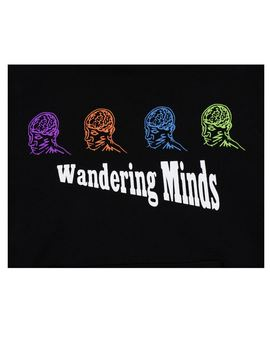 Pitch Black Wandering Minds Hoodie by Shadow Hill