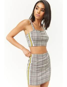 glen-plaid-side-striped-mini-skirt by forever-21