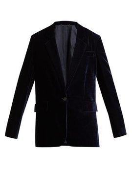 single-breasted-velvet-blazer by stella-mccartney