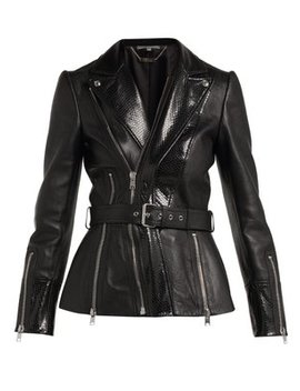 python-effect-leather-jacket by alexander-mcqueen