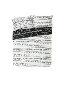 argos-home-black-and-white-sticks-bedding-set---kingsize by argos