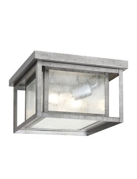 sea-gull-lighting-hunnington-10-in-w-weathered-pewter-outdoor-flush-mount-light by lowes