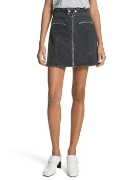 isabel-zip-denim-skirt by rag-&-bone_jean