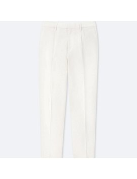 Women Cotton Tapered Ankle Length Trousers by Uniqlo