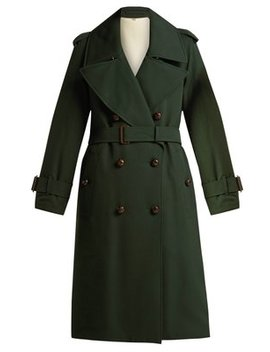regina-logo-jacquard-wool-trench-coat by burberry
