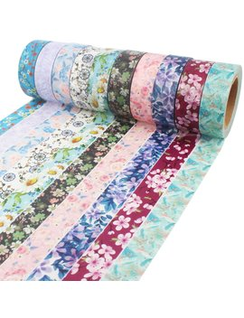 floral-washi-tape-10m-long-each-roll-decorative-masking-tape-japanese-paper-tapes-fabric-tape-for-arts-and-crafts,-diy-projects,-scrapbooks,-calendar,-bible-journaling-and-gift-wrapping by amazon