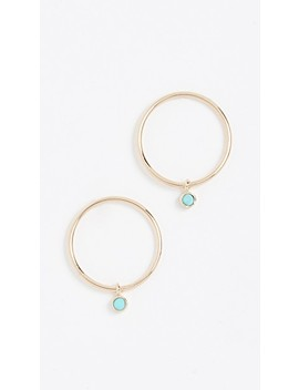 14k-gold-earrings-with-turquoise-bezel by zoe-chicco