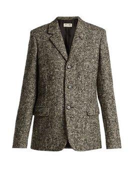 single-breasted-herrigbone-wool-blazer by saint-laurent