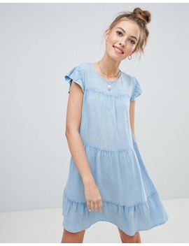 wednesdays-girl-smock-dress-in-chambray by wednesdays-girl