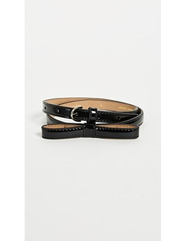 patent-skinny-bow-belt by kate-spade-new-york