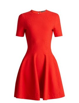 embossed-knit-dress by alexander-mcqueen