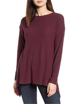 ribbed-cozy-fleece-twist-back-top by gibson