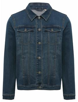 m&co-ladies-cotton-rich-long-sleeve-button-front-dark-wash-denim-jacket by amazon