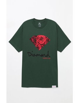 og-sign-rose-green-t-shirt by diamond-supply-co