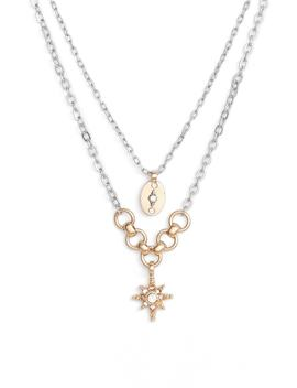 two-layer-star-pendant-necklace by treasure-&-bond