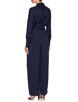 justine-snakeskin-print-silk-jumpsuit by lagence