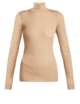 silk-and-wool-blend-roll-neck-sweater by jil-sander