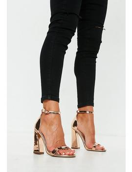 rose-gold-flared-block-barely-there-heels by missguided
