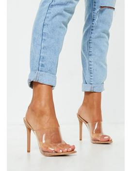 nude-pointed-clear-mules by missguided