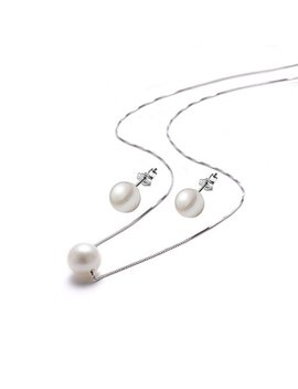 bridesmaids-pearl-necklaces-pendant-stud-earrings-set-white-single-faux-pearl-925-sterling-silver-necklace-for-women-girls-chain,18 by amelery