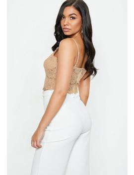 nude-corded-lace-cami by missguided