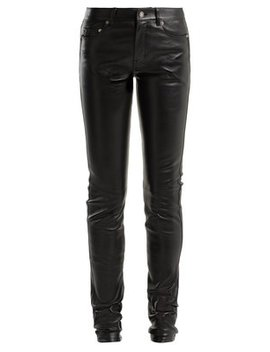 skinny-leather-trousers by saint-laurent