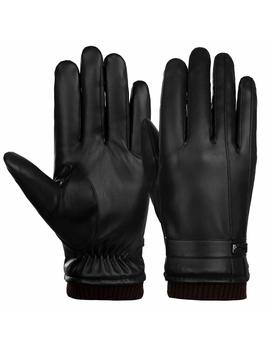 vbiger-mens-winter-gloves-touchscreen-pu-leather-driving-gloves-mittens by amazon