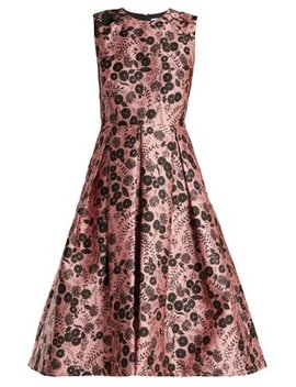 indra-floral-jacquard-dress by erdem