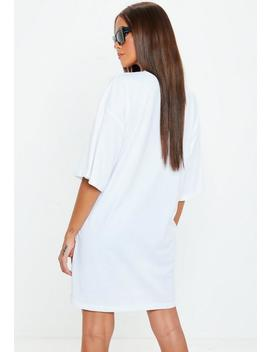 white-oversized-california-graphic-t-shirt-dress by missguided