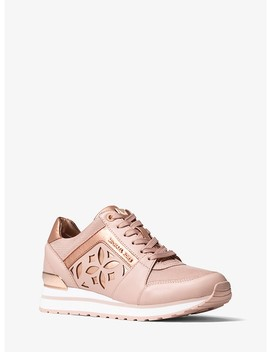Mimi Perforated Leather And Mesh Sneaker by Michael Michael Kors
