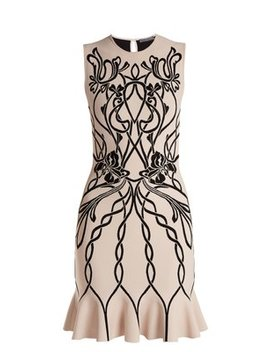 art-nouveau-intarsia-sleeveless-dress by alexander-mcqueen
