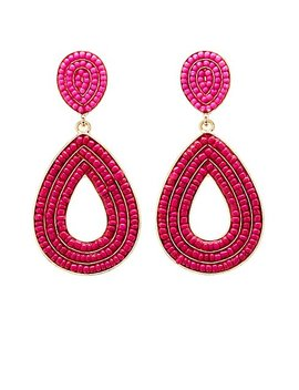 Beaded Teardrop Earring by Charlotte Russe