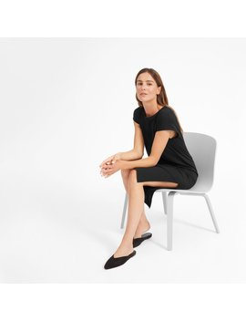 The Luxe Cotton Side Slit Tee Dress by Everlane