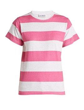 striped-cotton-t-shirt by balenciaga