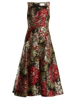 polly-flower-jacquard-dress by erdem