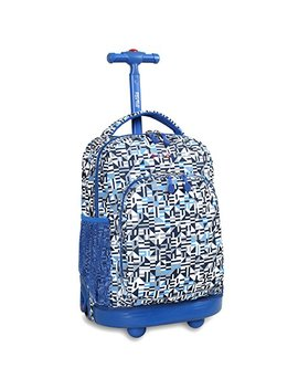 j-world-new-york-sunny-rolling-backpack,-geo-blue,-one-size by j-world-new-york