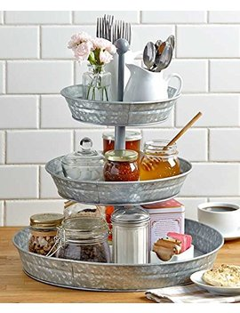 vintage-galvanized-3-tier-serving-tray-rustic-country-farmhouse-kitchen by getset2save