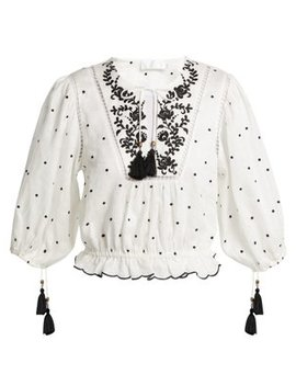 tali-embroidered-linen-top by zimmermann