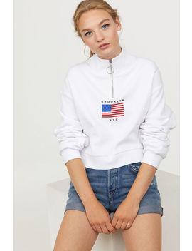 sweatshirt-med-ståkrage by h&m