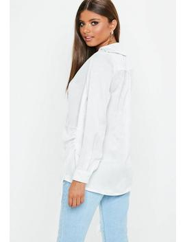 white-peached-satin-wrap-over-shirt by missguided