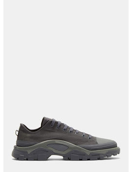 X Adidas Detroit Runner Sneakers In Grey by Adidas By Raf Simons