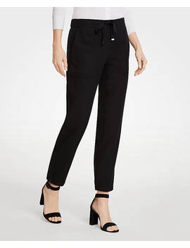 Twill Drapey Ankle Pants by Ann Taylor