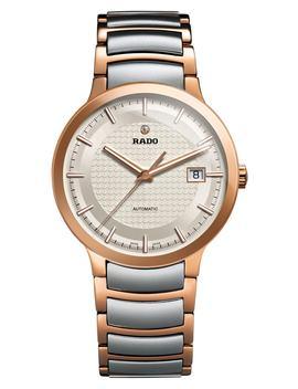 centrix-logo-embossed-automatic-bracelet-watch,-38mm by rado