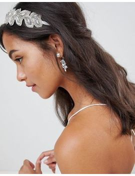 asos-design-bridal---bandeau-avec-motif-vigne-orné-de-perles-et-de-bijoux-dimitation by asos-design