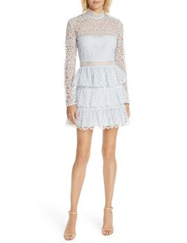 tiered-scalloped-lace-dress by self-portrait