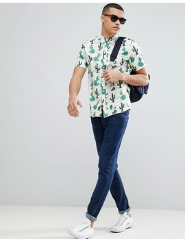 only-&-sons-cactus-print-short-sleeve-shirt by only-&-sons